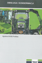 AGROTRON M 650 PROFILINE - Obsługa i konserwacja