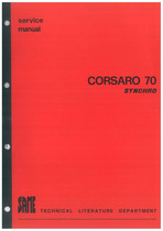 CORSARO 70 SYNCRHO - Workshop Manual