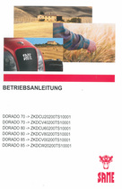 DORADO 70 ->ZKDCU20200TS10001 - DORADO 70 ->ZKDCV40200TS10001 - DORADO 80 ->ZKDCU60200TS10001 - DORADO 80 ->ZKDCV80200TS10001 - DORADO 85 ->ZKDCV00200TS10001 - DORADO 85 ->ZKDCW20200TS10001 - Betriebsanleitung