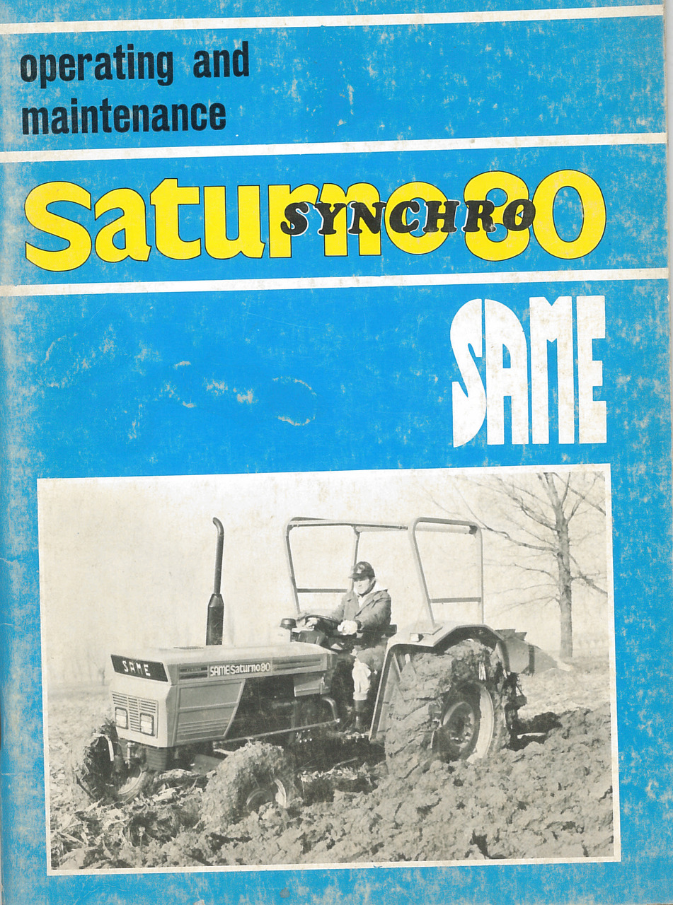 SATURNO 80 SYNCHRO - Operating and maintenance