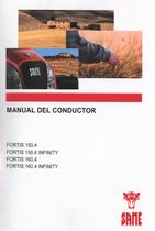 FORTIS 150.4 - FORTIS 150.4 INFINITY - FORTIS 160.4 - FORTIS 160.4 INFINITY - Manual del conductor