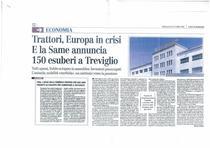 Trattori, Europa in crisi . E la SAME annuncia 150 esuberi a Treviglio