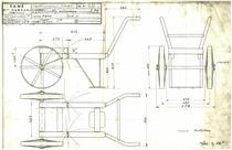 Carrello motopompa MIB 851. Complessivo - Disegno 1070