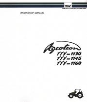 AGROTRON TTV 1130 - AGROTRON TTV 1145 - AGROTRON TTV 1160 - Workshop manual