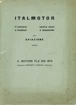 """Opuscolo: """"ITALMOTOR - Il motore a revolver senza asse a manovelle per AVIAZIONE"""""""