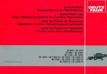 M 660 - M 770 - M 980 - M 1080 - M 1102 - M 1202 - M 1300 - M 1300 H - M 1302 - M 1302 H - M 1320 - M 1322 - M 1322 H - M 1600 H - M 1620 H - Ersatzteilliste Reisausrüstung / Spare parts list rice treshing equipment / Liste de pièces de rechange equipment riz / Lista de piezas de recambio equipo arroz