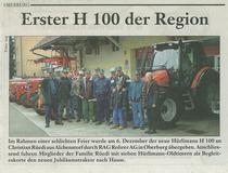 Erste H 100 der Region