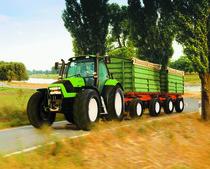 [Deutz-Fahr] trattore Agrotron TTV 1160 al lavoro con rimorchio
