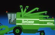 [Deutz-Fahr] illustrazione di mietitrebbia TopLiner 4075 HTS e particolari delle componenti