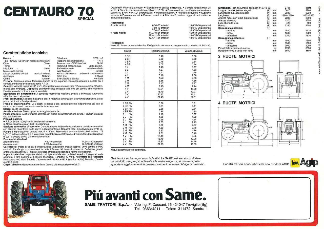 305b54f535 CENTAURO 70 SPECIAL CENTAURO 70 SPECIAL