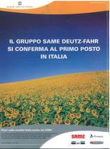 Il Gruppo Same Deutz- Fahr si conferma al primo poso in Italia