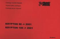KRYPTON 90 ->2001 - KRYPTON 100 ->2001 - Catalogo ricambi originali / Original parts catalogue / Catalogo peças originais
