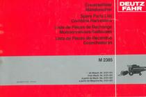 M 2385 - Ersatzteilliste ab Masch. Nr. 2121-101 / Spare parts list from Mach. Nr. 2121-101 / Liste de pièces de rechange à partir de Mach. No. 2121-101 / Lista de piezas de recambio a partir de Maquina No. 2121-101
