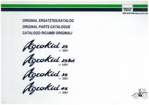 AGROKID 25-25 HST-35-45 - Original Ersatzteilkatalog / Original parts catalogue / Catalogo ricambi originali