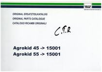 AGROKID 45 - AGROKID 55 - Original Ersatzteilkatalog / Original parts catalogue / Catalogo ricambi originali
