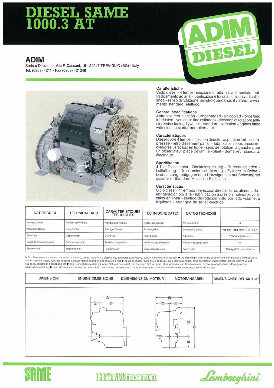 Motore 1000.3 AT