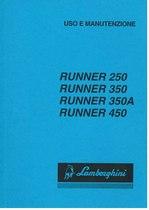 RUNNER 250 - 350 - 350A - 450 - Libretto Uso & Manutenzione
