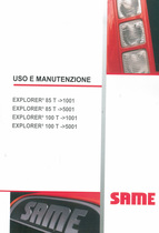 EXPLORER³ 85 T ->1001 - EXPLORER³ 85 T ->5001 - EXPLORER³ 100 T ->1001 - EXPLORER³ 100 T ->5001 - Uso e manutenzione