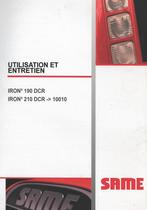IRON³ 190 DCR - IRON³ 210 DCR -> 10001 - Utilisation et entretien