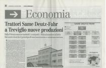 Trattori SAME Deutz-Fahr a Treviglio nuove produzioni