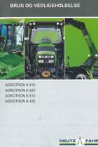 AGROTRON K 410 - 420 - 610 - 430 - Brug og vedligeholdelse