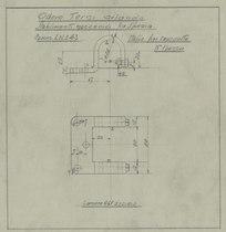 """""""Studi B 8/110"""" - Dis. n. 00019/SP/A - Cavalletto e staffe per cruscotto banco prova motori"""