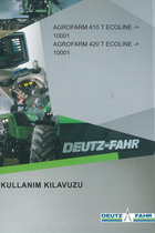 AGROFARM 410 T ECOLINE ->10001 - AGROFARM 420 T ECOLINE ->10001 - Kullanim kilavuzu