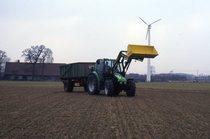 [Deutz-Fahr] trattore Agrotron prima serie con rimorchio e caricatore
