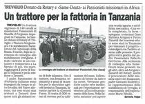 Un trattore per la fattoria in Tanzania