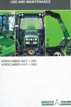 AGROCLIMBER 400 F ->2001 - AGROCLIMBER 410 F ->2001 - Use and maintenance