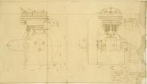 Complessivo motore monocilindrico fisso - Motore MIB 751 - Disegno 101