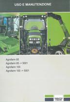 AGROFARM 85 - AGROFARM 85 ->5001 - AGROFARM 100 - AGROFARM 100 ->5001 - Uso e manutenzione