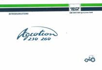 AGROTRON 230 - AGROTRON 260 - Betriebsanleitung
