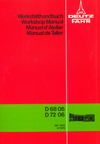 D 68 06 - D 72 06 - Getriebe / Power train / Transmission / Transmision - Werkstatthandbuch / Workshop manual / Manuel d'atelier / Manual de taller