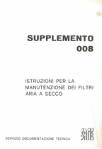 FILTRI ARIA A SECCO per SIRENETTA, DELFINO 35, AURORA, MINITAURO 60, CORSARO, SATURNO, DRAGO - Uso e manutenzione