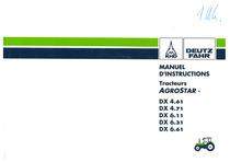 DX 4.61-4.71-6.11-6.31-6.61 - Utilisation et Entretien