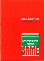ROW CROP 80 - Operating and maintenance
