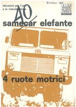 SAMECAR ELEFANTE - Libretto uso & manutenzione