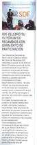 SDF celebró su VII fórum de ricambios con gran éxito de participación