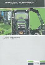 AGROTRON M 650 PROFILINE - Användning och underhâll