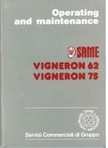 VIGNERON 62 - 75 Operating and maintenance