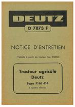 F1M 414 - Utilisation et Entretien