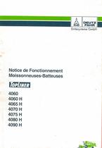 TOPLINER 4060-4060H-4065H-4070H-4075H-4080H-4090H - Notice de fonctionnement