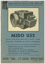 Motore MIDO 1152 - Distinta delle Parti di ricambio / List of principal Parts / Nomenclatura de las Piezas principales / Nomenclature des Pièces les plus importantes