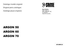 ARGON 50-60-70 - Catalogo Parti di Ricambio / Spare parts catalogue / Catálogo peças originais