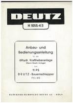 F1L 612 - Bedienungsanleitung fur ölhydr. Kraftheberanlage