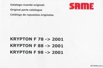 KRYPTON F 78 ->2001 - KRYPTON F 88 ->2001 - KRYPTON F 98 ->2001 - Catalogo ricambi originali / Original parts catalogue / Catalogo de repuestos originales