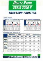 DEUTZ-FAHR SERIE 3000 F Tracteur Fruitier