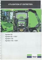 AGROFARM 85-100 GS 85-100 - Utilisation et Entretien