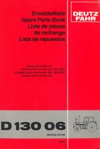 D 13006 - Ersatzteilliste / Spare Parts Book / Liste de pièces de rechange / Lista de repuestos